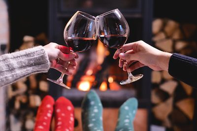 Feet up in front of fire - web